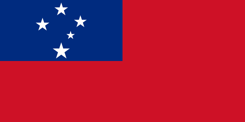 the flag of Samoa high resolution