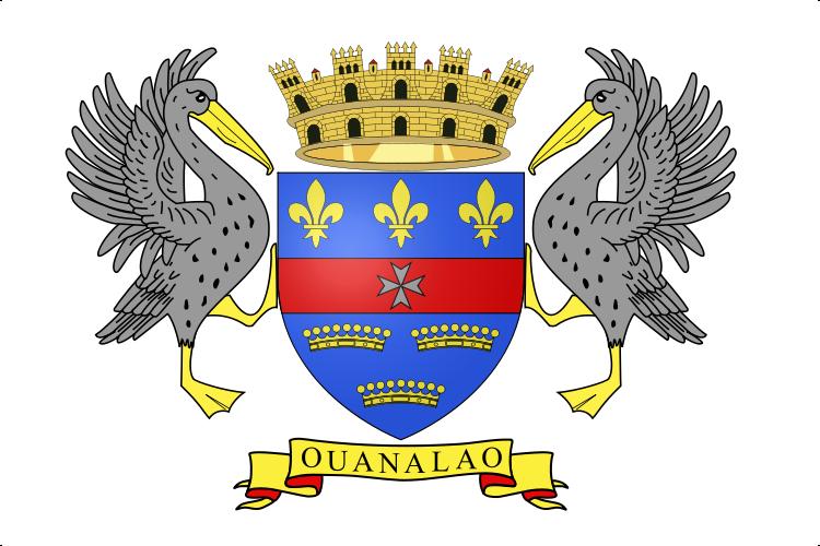 die Flagge von San Bartolomé (Frankreich) hohe Auflösung