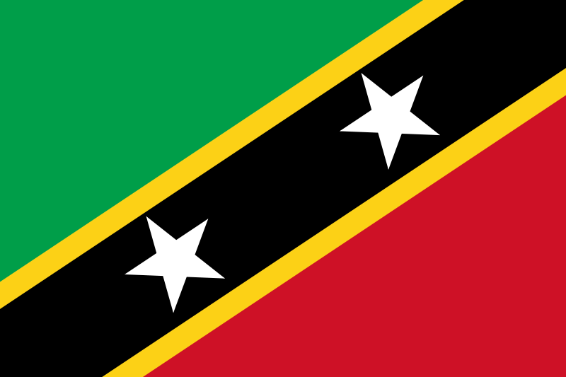 the flag of Saint Kitts and Nevis high resolution