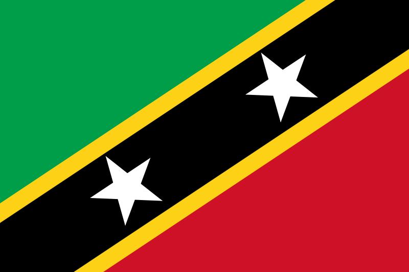 die Flagge von St. Kitts und Nevis hohe Auflösung