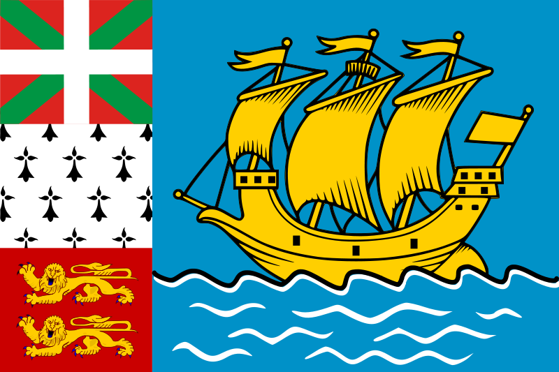 the flag of Saint Pierre and Miquelon high resolution