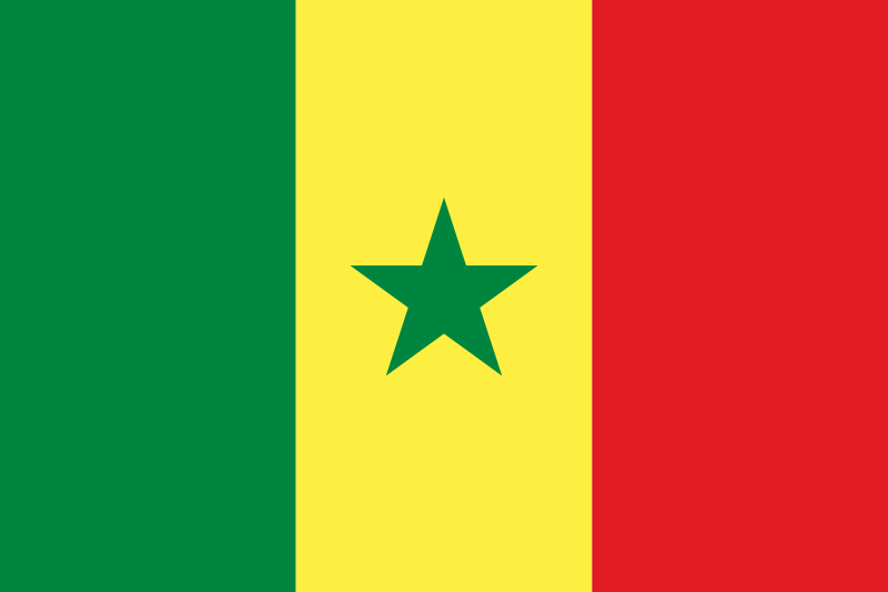 the flag of Senegal high resolution
