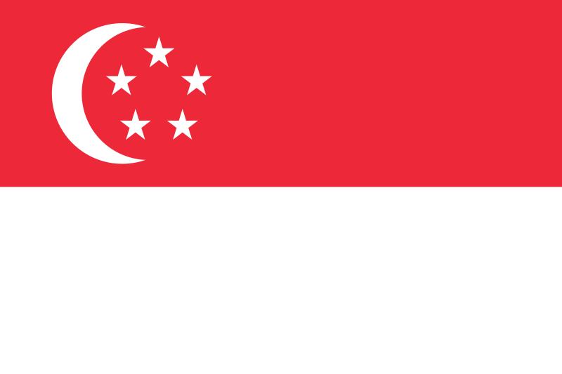 bandeira Singapura em alta resolução