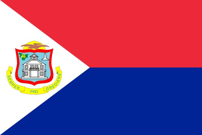 die Flagge von Sint Maarten hohe Auflösung