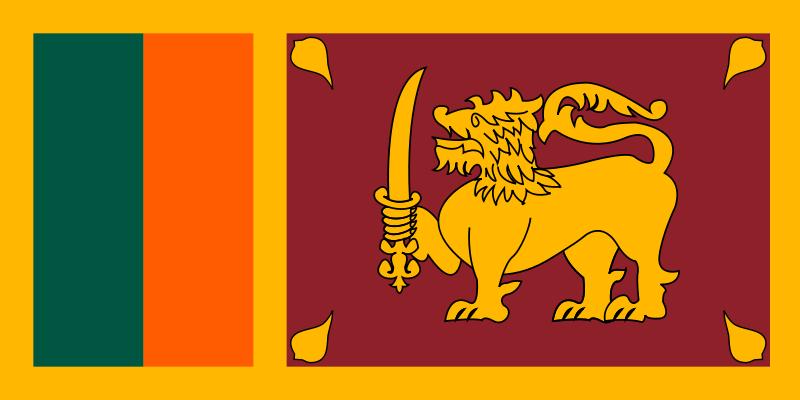 die Flagge von Sri Lanka hohe Auflösung