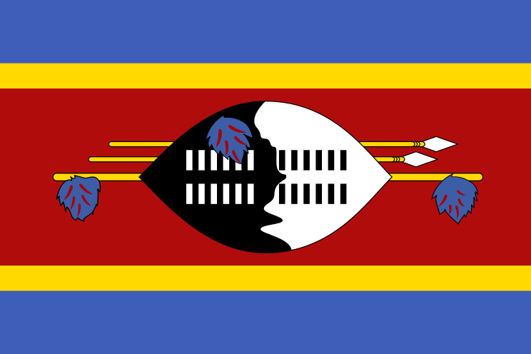 the flag of Swaziland high resolution