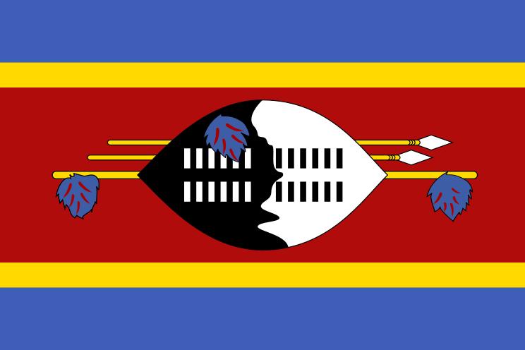 la bandera de Suazilandia en gran resolucion