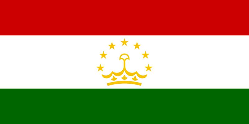 la bandera de Tayikistán en gran resolucion