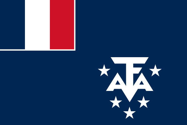 the flag of French Southern and Antarctic Lands high resolution