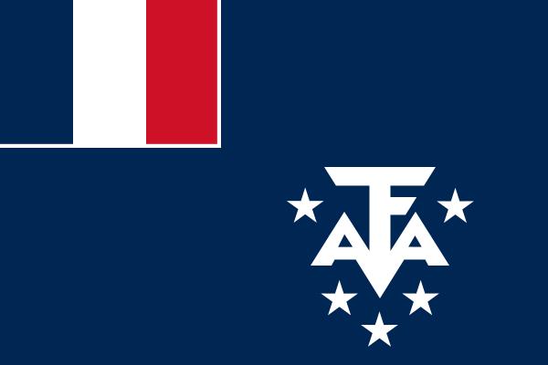 la bandera de Tierras Australes y Antárticas Francesas en gran resolucion