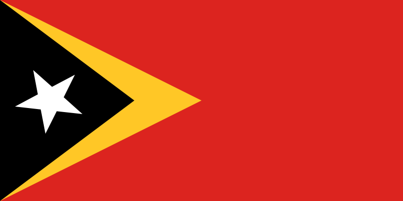 the flag of East Timor high resolution