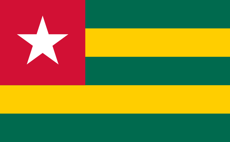 the flag of Togo high resolution