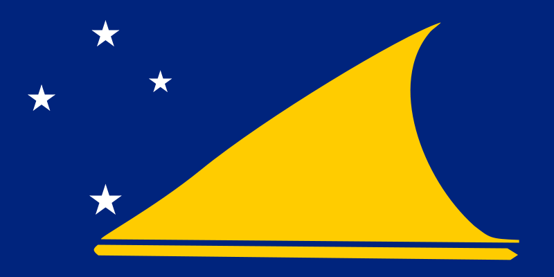 the flag of Tokelau high resolution