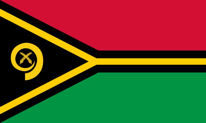 die Flagge von Vanuatu hohe Auflösung