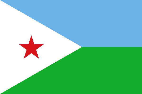 la bandera de Yibuti en gran resolucion
