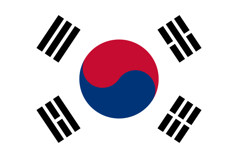 the flag of South Korea high resolution