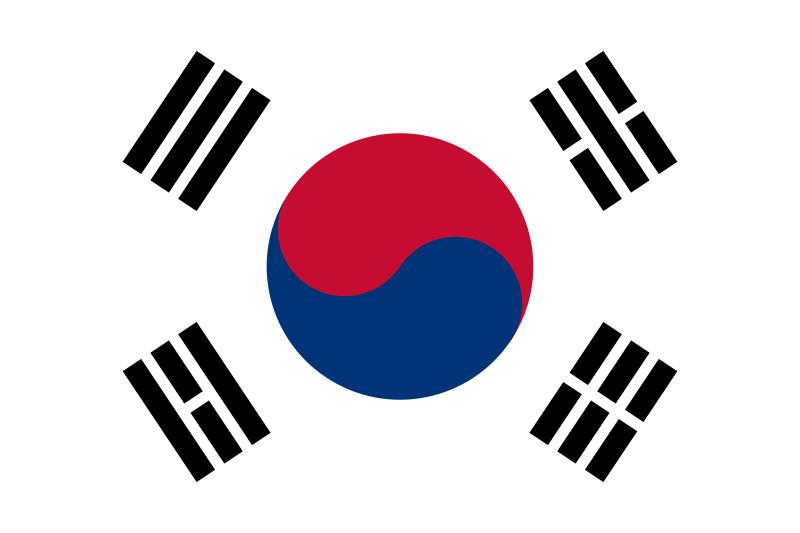 bandeira Coreia do Sul em alta resolução