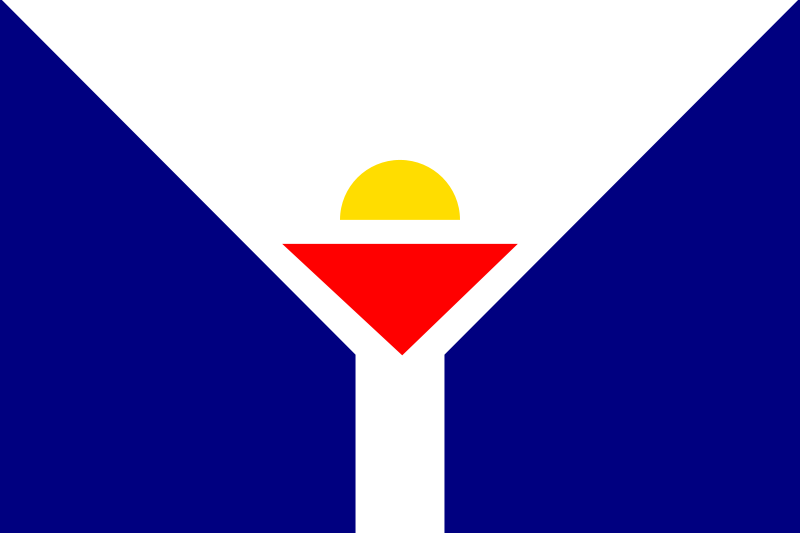 the flag of San Martin (France) high resolution