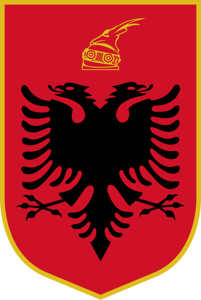el escudo de Albania en gran resolucion
