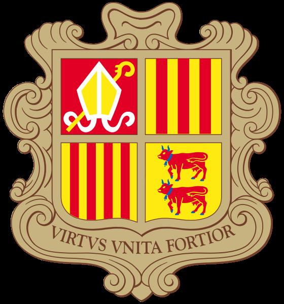 el escudo de Andorra en gran resolucion