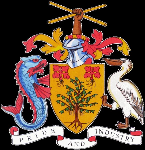 o escudo de Barbados em alta resolução
