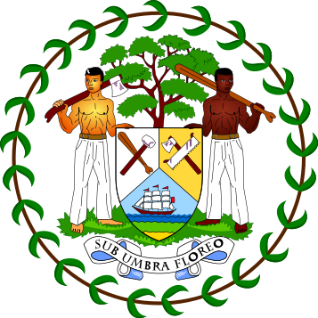 coat of arms of Belize high resolution