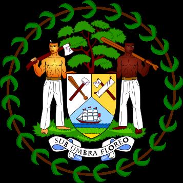 el escudo de Belice en gran resolucion
