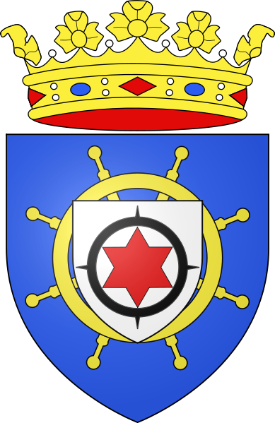 coat of arms of Bonaire high resolution
