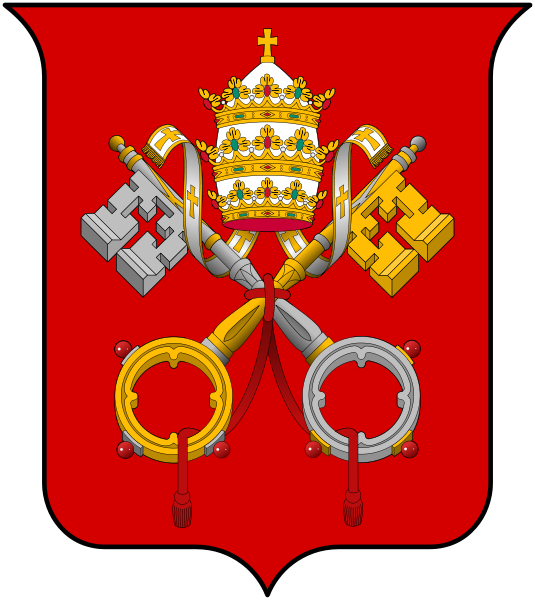 coat of arms of Vatican City high resolution