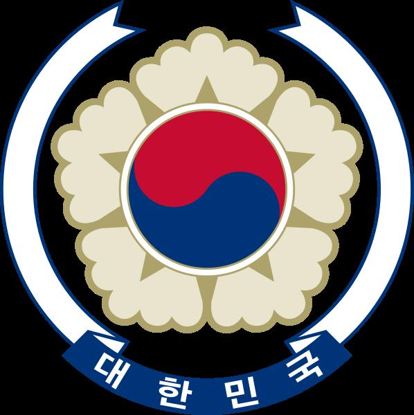 o escudo de Coreia do Sul em alta resolução