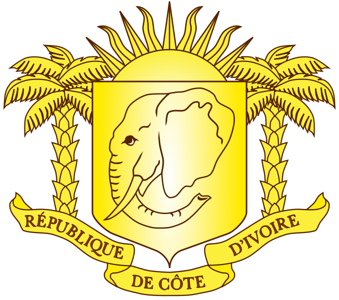 coat of arms of Ivory Coast high resolution