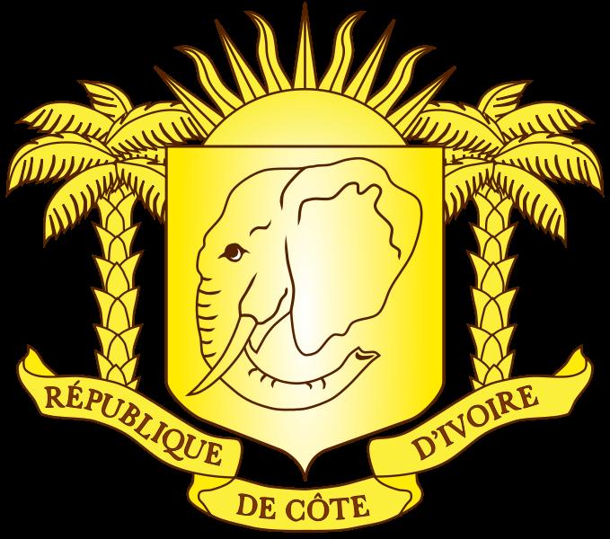 Wappen des Elfenbeinküste hohe Auflösung