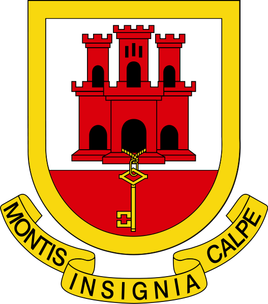 coat of arms of Gibraltar high resolution
