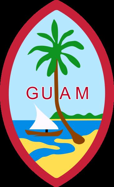 Wappen des Guam hohe Auflösung