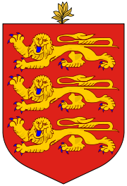 Wappen des Guernsey hohe Auflösung