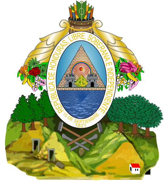 coat of arms of Honduras high resolution