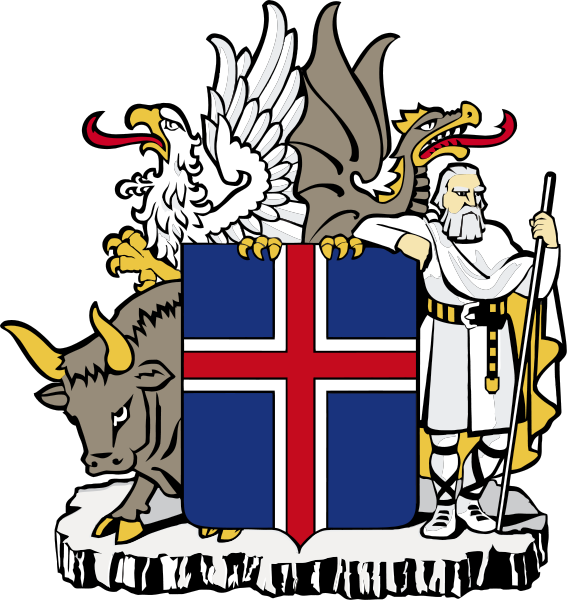 coat of arms of Iceland high resolution