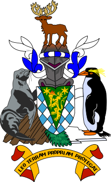 coat of arms of South Georgia and South Sandwich high resolution