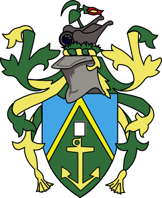 coat of arms of Pitcairn Islands high resolution