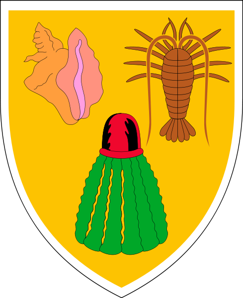 coat of arms of Turks and Caicos Islands high resolution