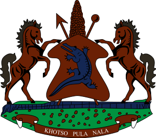 coat of arms of Lesotho high resolution