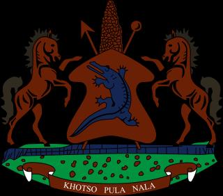 el escudo de Lesoto en gran resolucion