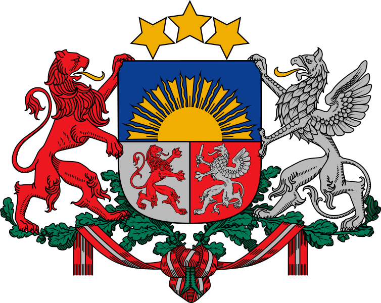 coat of arms of Latvia high resolution