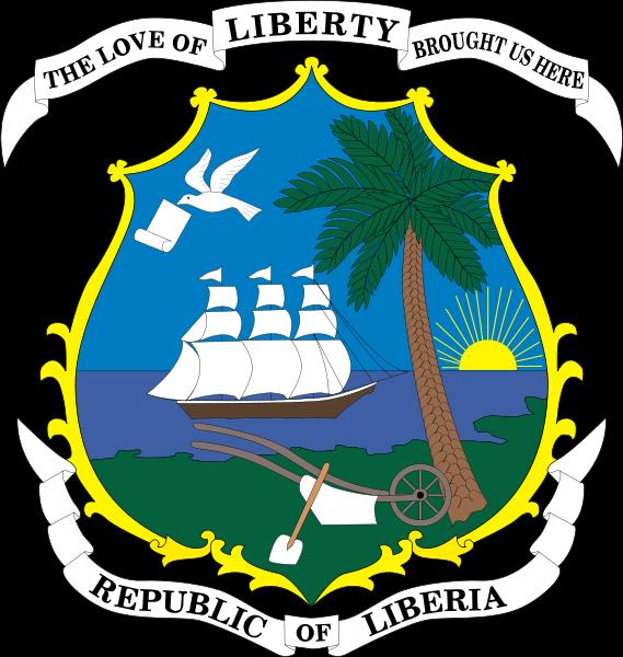 o escudo de Libéria em alta resolução