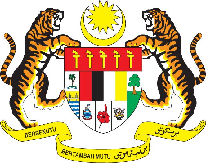 el escudo de Malasia en gran resolucion