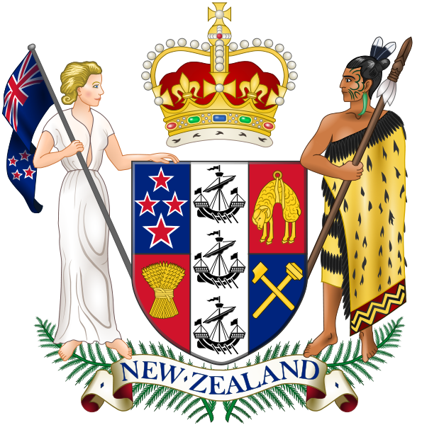 el escudo de Nueva Zelanda en gran resolucion