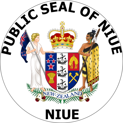 coat of arms of Niue high resolution