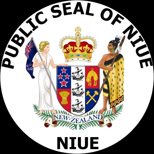 o escudo de Niue em alta resolução