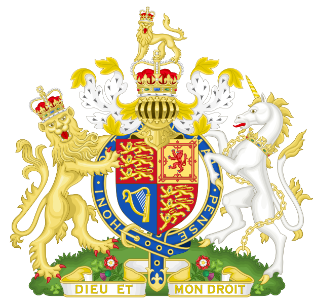coat of arms of United Kingdom high resolution