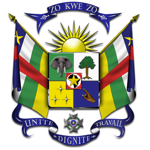 coat of arms of Central African Republic high resolution
